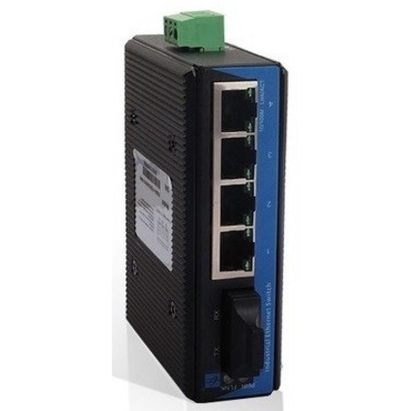 IES205-1S @ 4*10/100M RJ45 + 1*100M SC SM Endüstriyel Switch