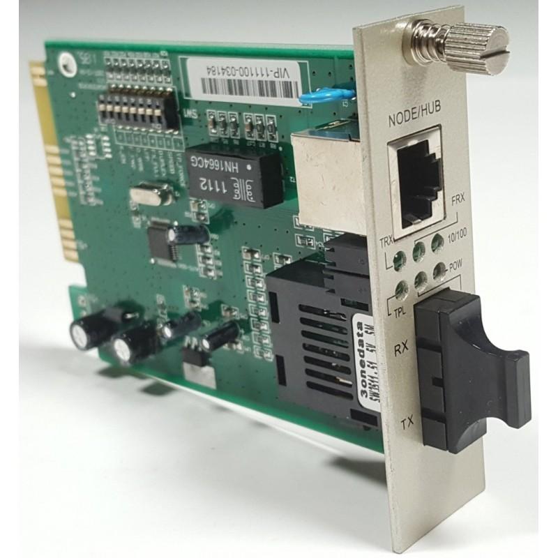 Model1100S-C @ Kart-Modül Tipi Fast Ethernet Fiber Media Converter SC SM 20km