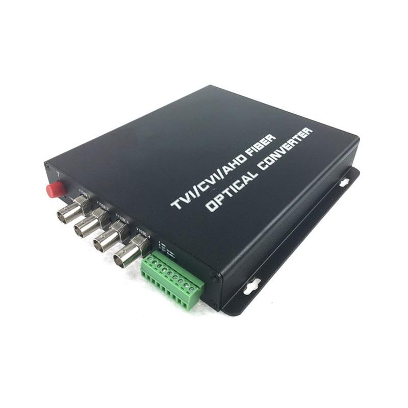 CLR-HDV-A504 @ 4 Kanal 5 Megapixel AHD Video + PTZ Data Fiber Optik Çevirici
