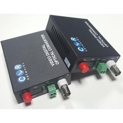 CLR-AHD-1FHD @ 1 Kanal 1080P AHD Video + PTZ Data Fiber Optik Çevirici
