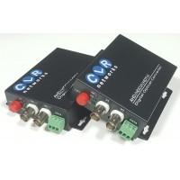CLR-AHD-2FHD @ 2 Kanal 1080P AHD Video + PTZ Data Fiber Optik Çevirici