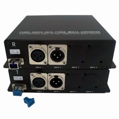 CLR-BAF-11B @ 1 Kanal Balanced XLR Audio SM Fiber optik Çift Yönlü Çevirici