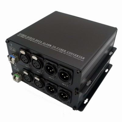 CLR-BAF-12B @ 2 Kanal Balanced XLR Audio SM Fiber optik Çift Yönlü Çevirici