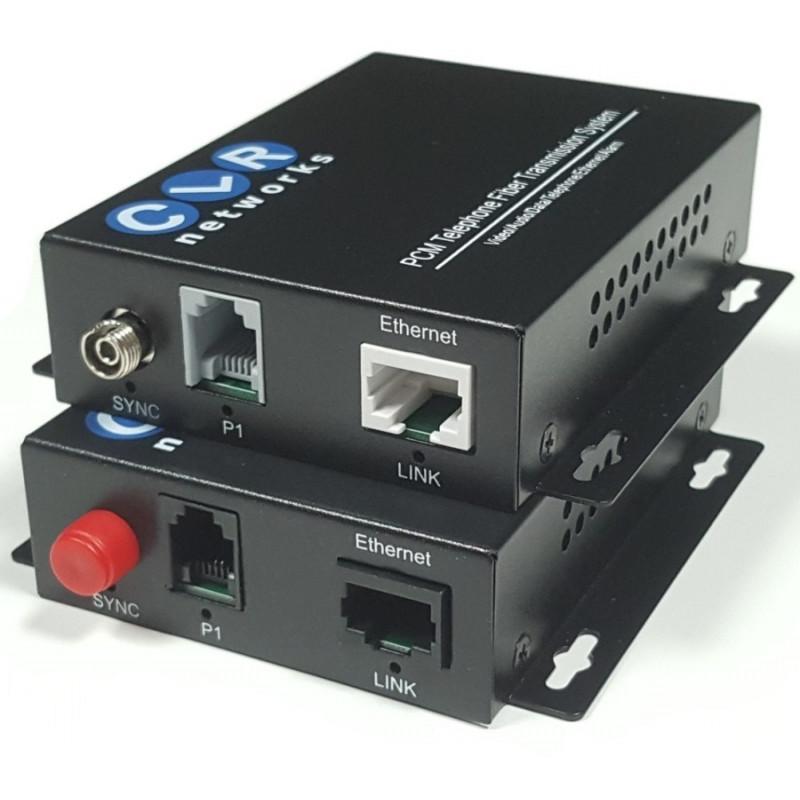 CLR-FXS/FXO-011SF @ 1 Hat Analog Telefon 1 Port 10/100M Ethernet Fiber Optik Çevirici