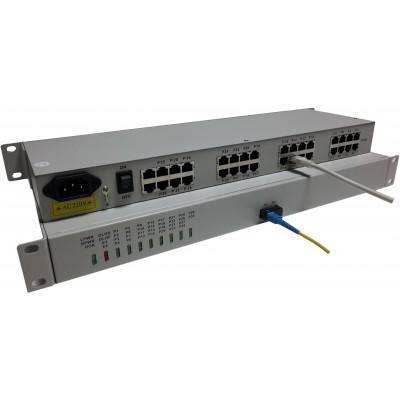 CLR-FXS/FXO-300SF @ 30 Hat Analog Telefon Fiber Optik Çevirici