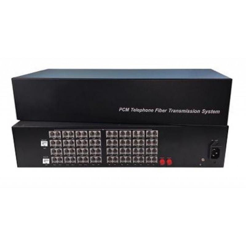 CLR-FXS/FXO-642DF @ 64 Hat Analog Telefon 2 Port 10/100M Ethernet Fiber Optik Çevirici