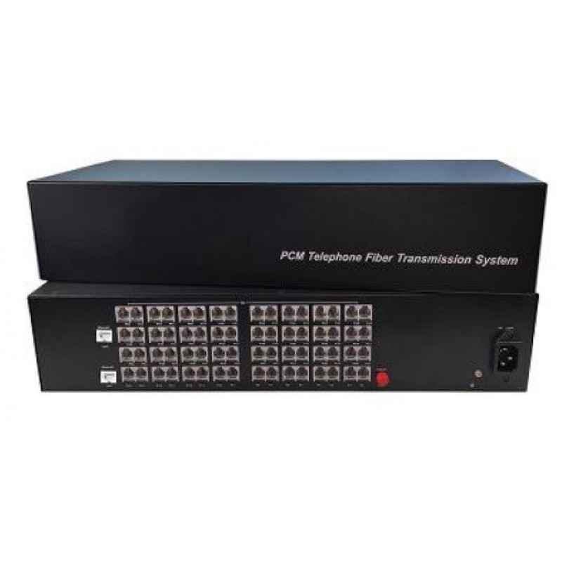 CLR-FXS/FXO-642SF @ 64 Hat Analog Telefon 2 Port 10/100M Ethernet Fiber Optik Çevirici