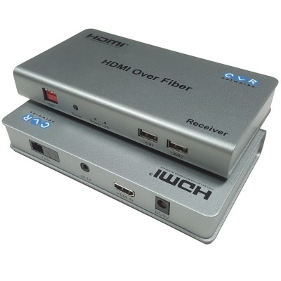 CLR-HDMI-K30F @ HDMI + USB Fiber Optik KVM Extender IR