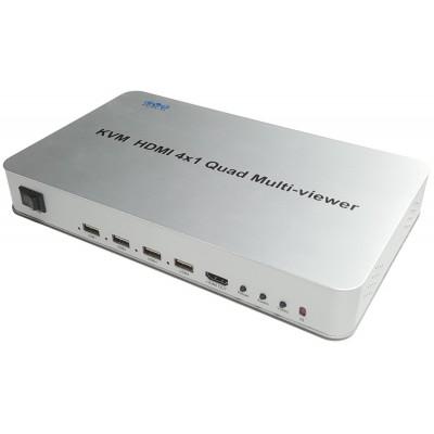 CLR-HDMI-MS144 @ HDMI + USB Quad Screen Multiviewer - 4 giriş 1 çıkış