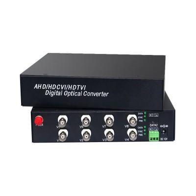 CLR-HDV-A208 @ 8 Kanal 1080P AHD Video + PTZ Data Fiber Optik Çevirici Desktop