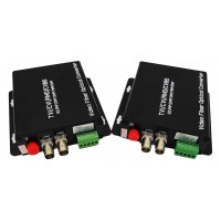 CLR-HDV-A502 @ 2 Kanal 5 Megapixel AHD Video + PTZ Data Fiber Optik Çevirici