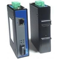 CLR-ICG-SC20 @ 1*10/100/1000M RJ45 + 1*1G SC SM Endüstriyel Media Çevirici