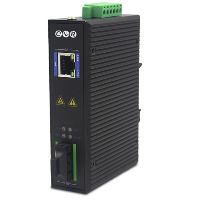 CLR-ICG-SC20P @ 1*10/100/1000M RJ45 PoE + 1*1G SC SM Endüstriyel PoE Media Çevirici