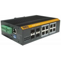 CLR-IES-2512P @ 8*RJ45 POE + 4*SFP Endüstriyel PoE Switch L2+ Ring, Akıllı Cloud Switch