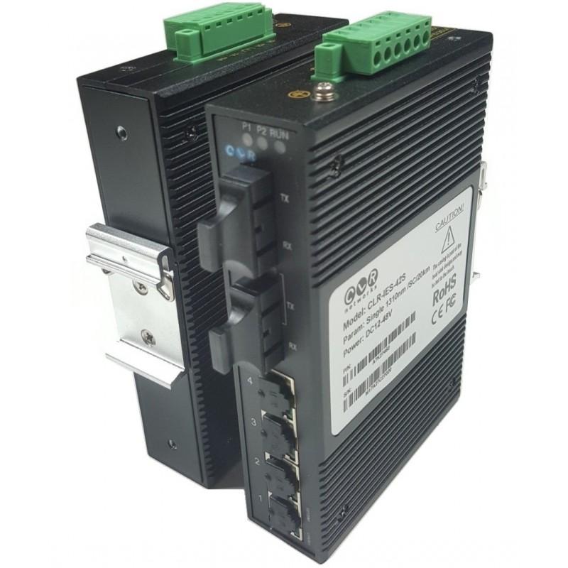CLR-IES-42S @ 4*10/100M RJ45 + 2*100M SC SM Endüstriyel Switch
