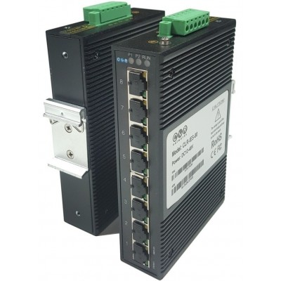 CLR-IES-80 @ 8*10/100M RJ45 Endüstriyel Ethernet Switch Yönetilemez