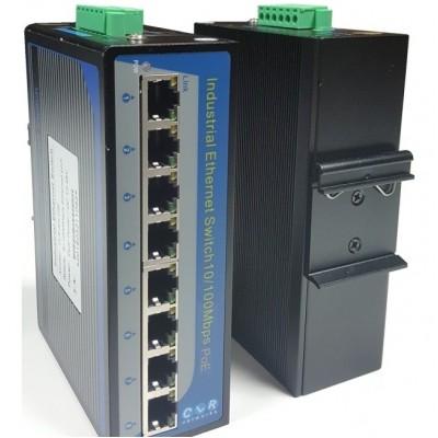 CLR-IES-80P @ 8*10/100M RJ45 PoE Endüstriyel Ethernet Switch
