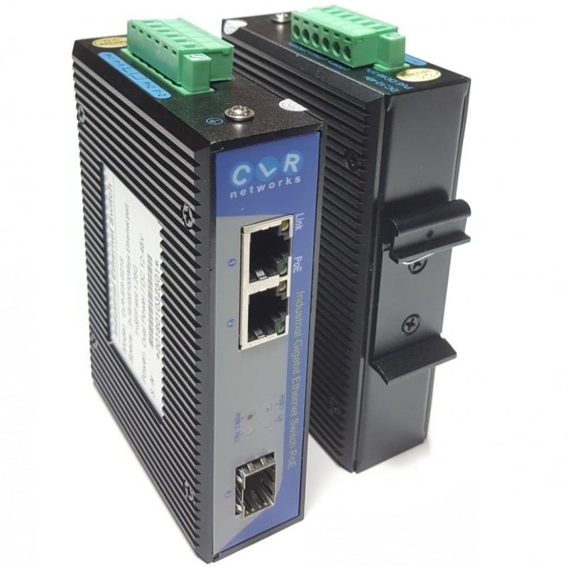 CLR-IES-G21P @ 2*10/100/1000Base-TX RJ45 POE + 1*SFP 1G Endüstriyel PoE Switch