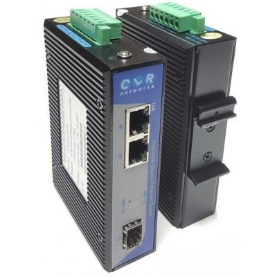 CLR-IES-G21S @ 2*10/100/1000Base-TX RJ45 + 1*SFP 1G Endüstriyel Switch