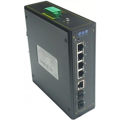 CLR-IES-G402 @ Yönetilebilir 4*RJ45 + 2*SFP Endüstriyel Switch L2+ Ring