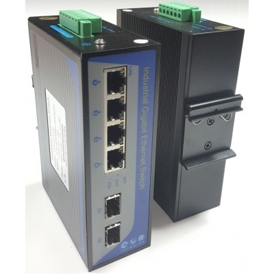 CLR-IES-G42S @ 4*10/100/1000Base-TX RJ45 + 2*SFP 1G Endüstriyel Switch