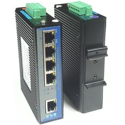 CLR-IES-G50P @ 4*10/100/1000M RJ45 PoE 1*Gigabit RJ45 Endüstriyel Ethernet Switch
