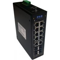 Endüstriyel PoE Switch 10 Port RJ45 (8 POE) + 4 SFP Yönetilebilir @ CLR-IES-G824P