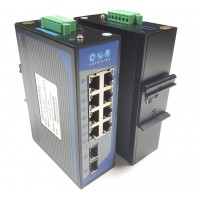 CLR-IES-G82P @ 8*10/100/1000Base-TX RJ45 POE + 2*Gigabit SFP Endüstriyel PoE Switch