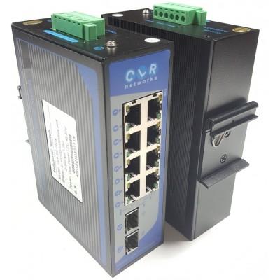 CLR-IES-G82S @ 8*10/100/1000Base-TX RJ45 + 2*SFP 1G Endüstriyel Switch