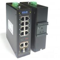 CLR-IES-L210P @ Yönetilebilir 8*100M RJ45 POE + 2*Gigabit RJ45/SFP Combo Endüstriyel PoE Switch