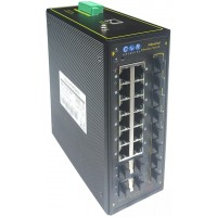 CLR-IES-T884P @ 10G Omurga 8*RJ45 POE + 4*RJ45 POEsiz+ 8*1G SFP + 4*10G SFP+ Endüstriyel PoE Switch