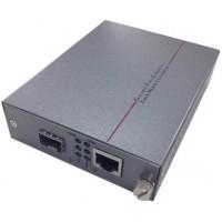 CLR-MCG-S30P @ PoE Gigabit Ethernet Fiber Optik Media Converter SFP Slot
