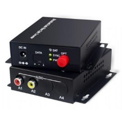 CLR-RCA-F10B @ 1 Kanal RCA Audio SM Fiber optik Çift Yönlü Çevirici