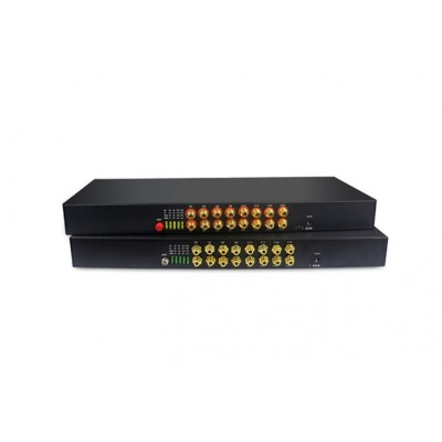 CLR-RCA-F160 @ 16 Kanal RCA Audio SM Fiber optik Çevirici
