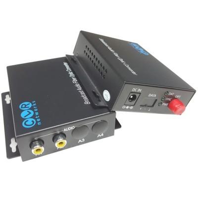 CLR-RCA-F20 @ 2 Kanal RCA Audio SM Fiber optik Çevirici