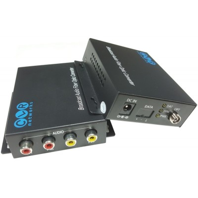 CLR-RCA-F20B @ 2 Kanal RCA Audio SM Fiber optik Çift Yönlü Çevirici
