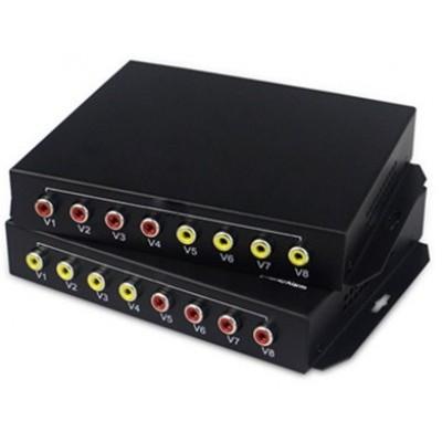 CLR-RCA-F40B @ 4 Kanal RCA Audio SM Fiber optik Çift Yönlü Çevirici