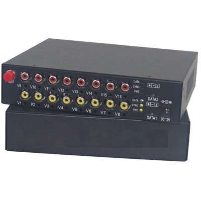 CLR-RCA-F80B @ 8 Kanal RCA Audio SM Fiber optik Çift Yönlü Çevirici