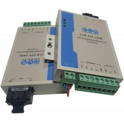 CLR-STF-244S @ Seri RS232/RS485/RS422 SM Fiber Optik Çevirici