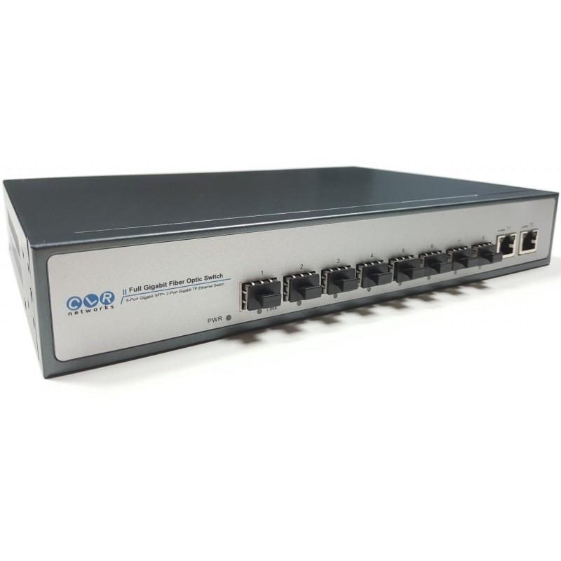 CLR-SWG-28F @ Unmanaged Gigabit Ethernet Omurga Fiber Switch 8*SFP + 2*RJ45