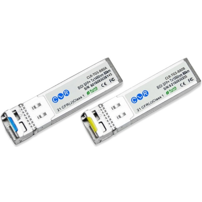 CLR-TGS-B80A @ Tek Core BiDi SFP+ Modül 10GBase-BX LC Simplex SM 80km