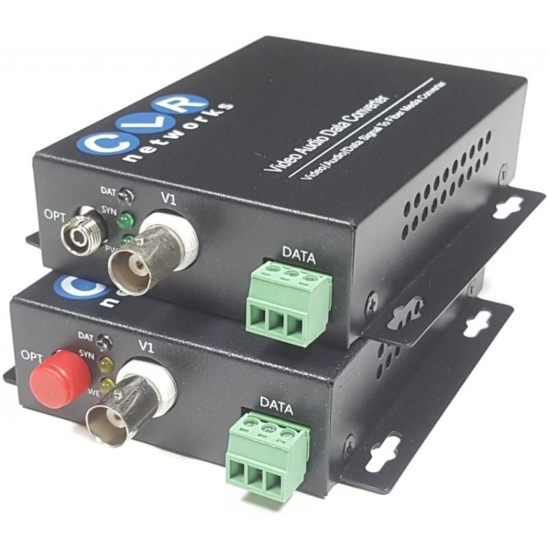CLR-VTR-01 @ 1 Kanal Analog Video + PTZ Data Fiber Optik Çevirici