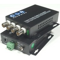 CLR-VTR-04 @ 4 Kanal Analog Video + PTZ Data Fiber Optik Çevirici
