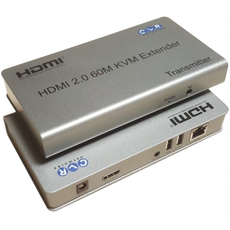 CLR-AVS-6400 @ 4Kx2K HDMI 2.0 ve USB KVM Extender Lokal HDMI Çıkışlı