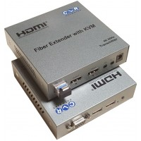 CLR-HDMI-K42F @ 4K UHD HDMI 2.0 Fiber Optik KVM Extender LC 20km IR