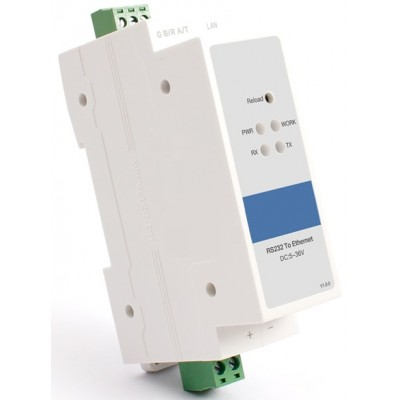 Din Rail RS232 Ethernet Çevirici - Seri Sunucu # CLR-STE-DR232S