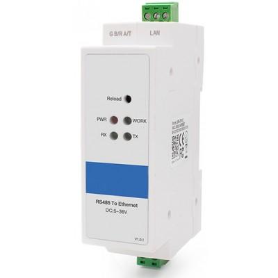 Din Rail RS485 Ethernet Çevirici - Seri Sunucu # CLR-STE-DR485S
