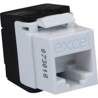 Excel Keystone Jack CAT6 UTP 180° Toolless - Beyaz @ 100-215-WT