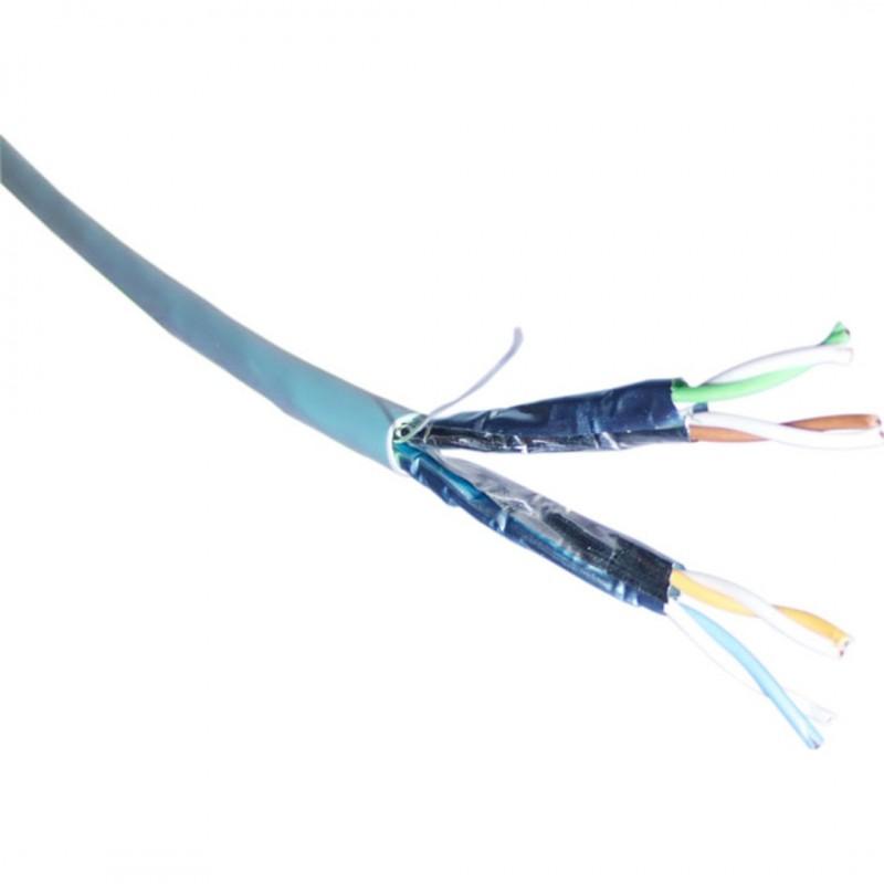100-191-500M @ Excel CAT6A U/FTP LSZH Kablo Buz Mavisi 500Mt