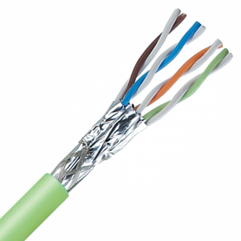 2170934 @ ETHERLINE CAT7 S/FTP Flexible PUR 4x2xAWG26/7 Outdoor Data Cable Green